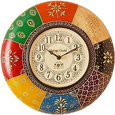 Vintage Clock Handicraft Radiant Pine Wood Wall Clock (34 cm x 10.5 cm x 34 cm) …