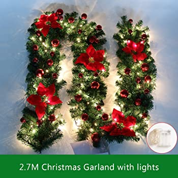 in outdoor weihnachtsgirlanden 5m led lichter mit oder ohne deko 80 leds inklusive. Black Bedroom Furniture Sets. Home Design Ideas