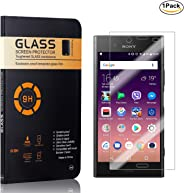 MoKiin Tempered Glass Screen Protector for Sony Xperia XZ1, Bubble Free, 9H Hardness Anti Scratches Screen Protector Film, H