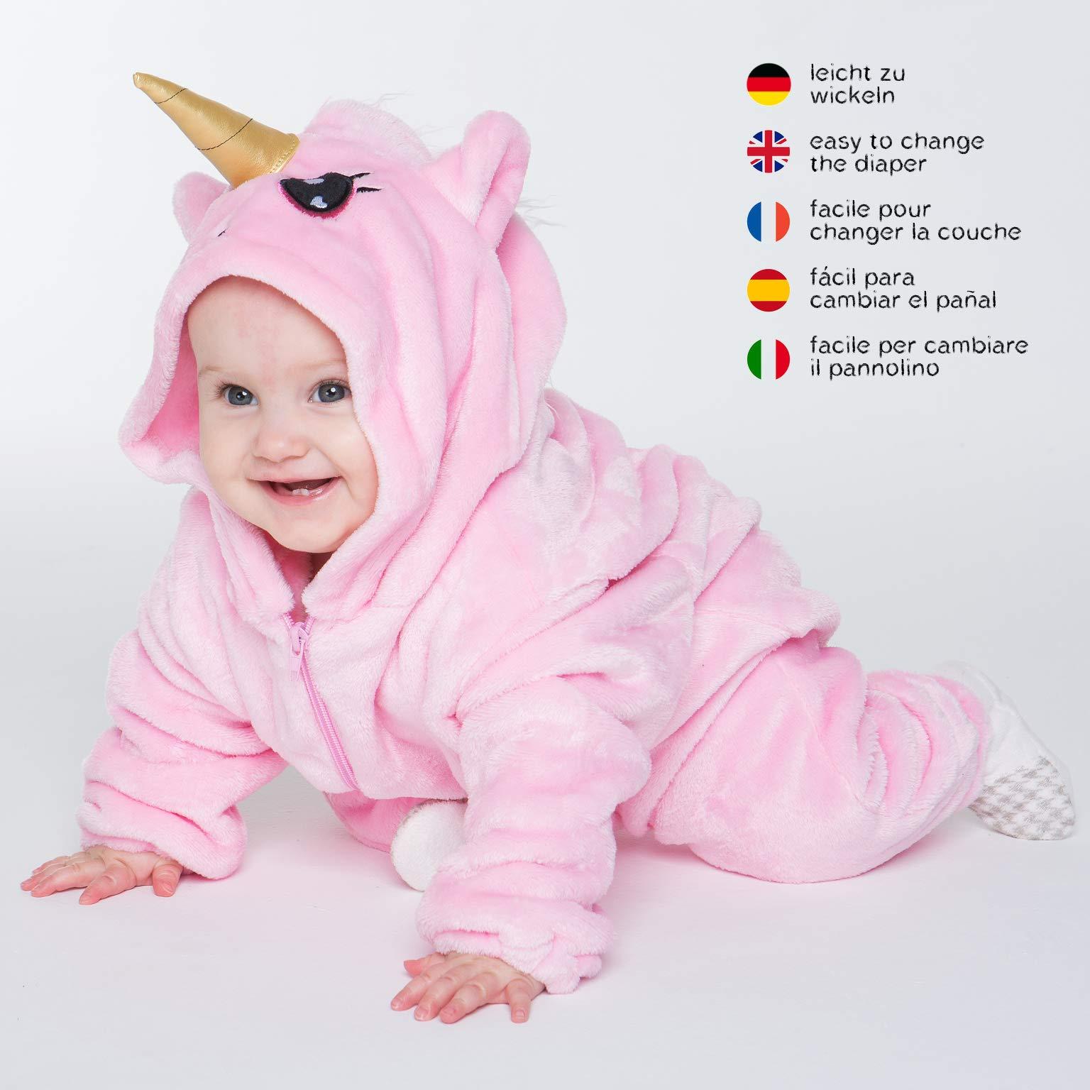 taglia 40 8d040 51fe3 corimori 1850 (4+ designs) Rose Unicorno Costume Neonati ...