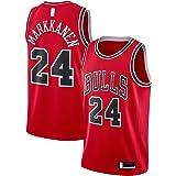ANMOQI Camiseta de baloncesto Markkanen bordado, diseño de Chicago Custom Lauri #24, réplica de Swingman Jersey Bulls Icon Ed