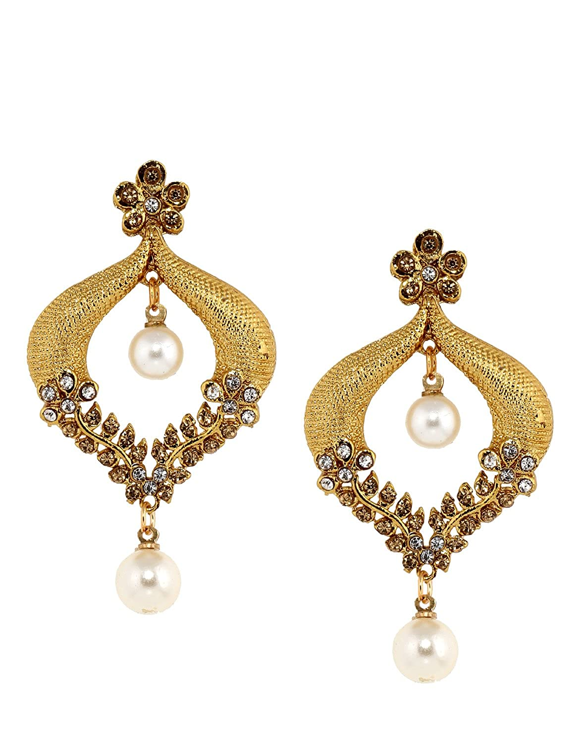 Bindhani Gold-Plated Dangle & Drop Earrings For Women: Bindhani ...