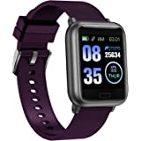 ASWEE Smart Watch, Fitness Trackers Heart Rate and Sleep Monitor, Step Counter, Multiple Sports Modes Tracking, IP68 Waterpro