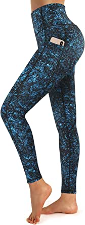Promover Hohe Taille Sport Leggings Damen Sporthose mit Handytasche Sportleggings Fitness Sportswear Hosen Yogahose Laufhose Jogginghose Workout Training Sportstrumpfhosen