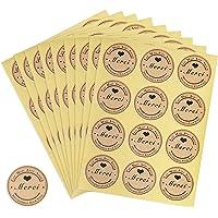 360pcs Autocollant Merci Rond Etiquette Sticker Gommette Meici Fait Main pour Cadeaux Enveloppes Créations Mariage 30…