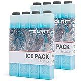 TOURIT Packs de Glace pour glacières Packs de congélation réutilisables de Longue durée pour Sacs/boîtes à Lunch, Sac à Dos I