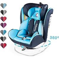 Lionelo Bastiaan Kindersitz Auto Kindersitz Isofix und Top Tether Kindersitz Drehbar um 360 Grad Autositz Gruppe 0 1 2 3…