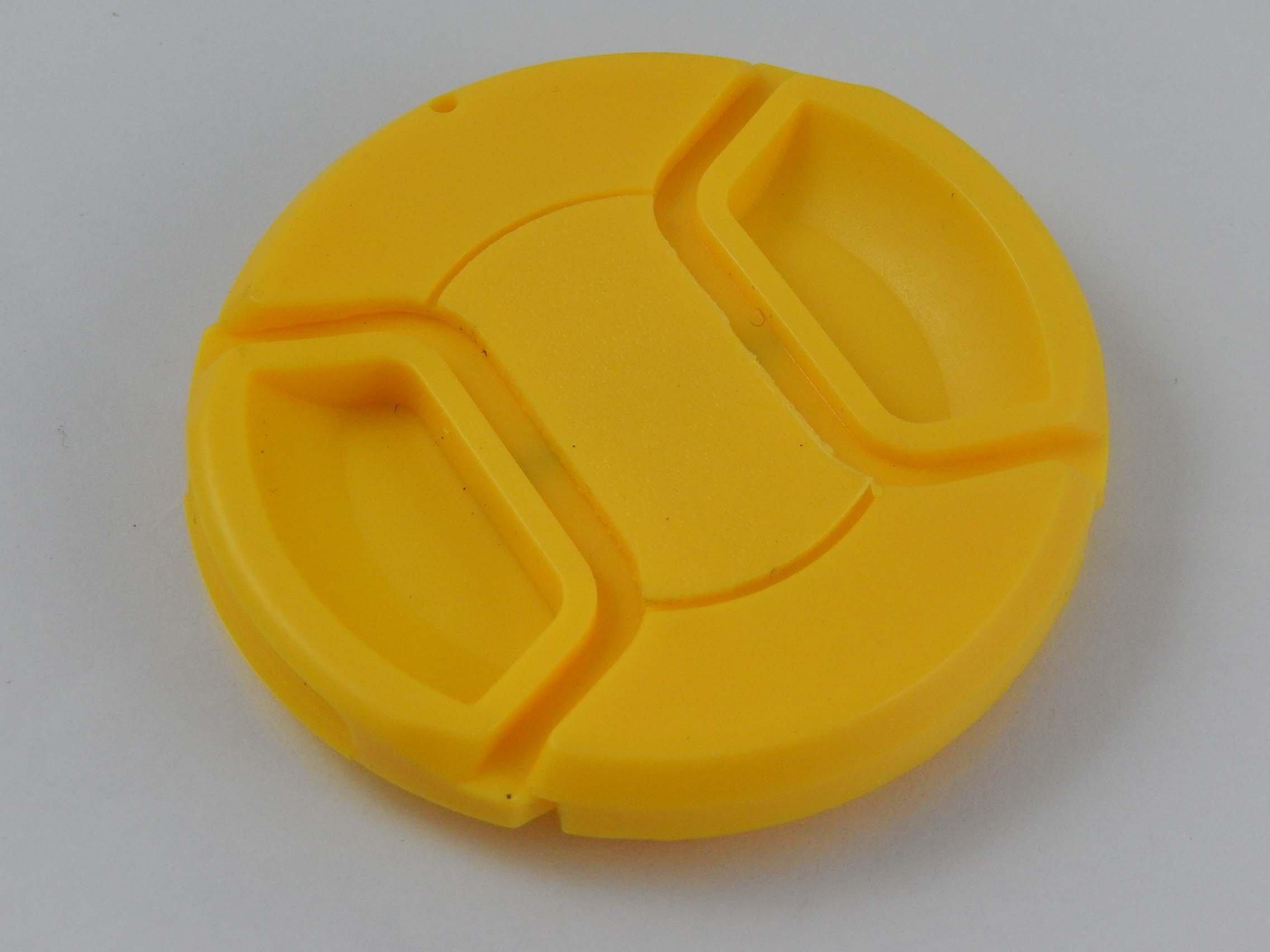 vhbw Tappo per obiettivo giallo da 72mm con impugnatura interna Snap on per fotocamera Canon EF 50 m