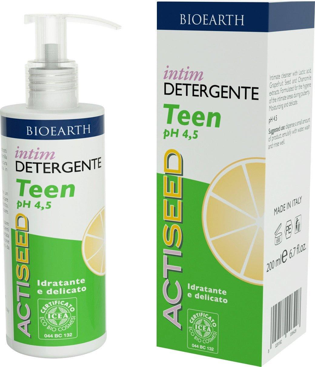 BIOEARTH - Actiseed Intim Detergente Pubertà - Igiene intima quotidiana Idratante e Delicato - Antim