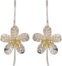 Silverwala 925 Sterling Silver Italian Finish Flower Earring for Women