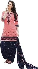 Nivah Fashion Women's Pure Cotton Embroidery Patiyala Salwar Suit (Free Size_Semi-Stich) G16