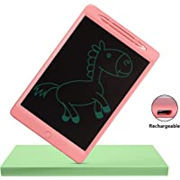 Proffisy LCD Writing Tablet 11.5 Inch Rechargeable Type Electronic Writing Board Doodle and Scribble Board Magnetic MeMO Notes Comes for Kids and Adults (11.5inch-Singlecolor-Recharge-Pink)
