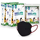 Careview Kids N95 Face Mask (Pack of 10 + 2 Free), BLACK Color,5 Layered Filtration, DRDO, BIS (ISI),CE Certified, Ear Loop S