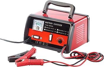 Lescars Kfz Batterie Ladegeräte: Profi-Batterieladegerät für 6 V / 12 V, max. 6 A (Bleiakku Lader)