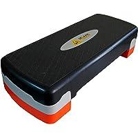 DE JURE FITNESS Polypropylene Adjustable Home Gym Exercise Fitness Stepper for Exercise Aerobics Stepper (Multi-Colour)