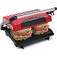 Aigostar Warme 30HHH - Grill multifonction, plancha, presse à paninis, appareil à sandwichs. 700W, plaques anti…
