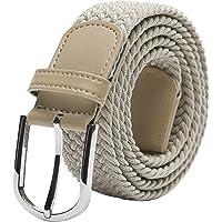 "TANGCHAO Mens Belt,Elastic Braided Belt Unisex Men Women Braided Elastic Stretch Woven Belt 33mm(1.25"") Multi Colours"