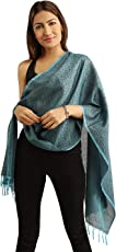 Funkia Hand Crafted Designer All Season Banarasi Silk Scarf/Stole with All Over Tanchoi Weave