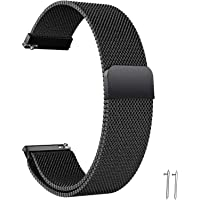 Quick Release Watch Strap - 20mm 22mm Lug Width Stainless Steel Metal Strap Milanese Mesh Wristband Magnetic Lock…