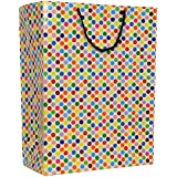 A&A Bags Laminated Paper Bag with Dotted Design (15 X 11 X 4 Inch) - Pack of 10 Dotted