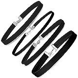 LEEQ Girocollo da donna collane girocollo in velluto nero, 4 pezzi