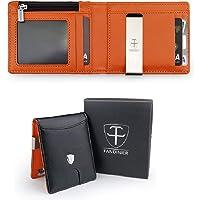 FANDINIER Portafoglio Uomo Vera Pelle con Protezione RFID | Porta Carte Di Credito | Clip Fermasoldi | Finestra di ID…