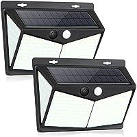 Lampe Solaire Extérieur, solawill 228 LED [2 Pack] Eclairage Exterieur avec Détecteur de mouvement, LED Solaire…
