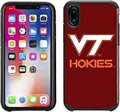Prime Brands Group Textured Team Color Cell Phone Case for Apple iPhone X - NCAA Licensed Virginia Tech Hokies