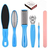 Vitalogy - Pedicure Tools for Feet - 8 in 1 Pedicure Kit | Foot Scrubber for Dead Skin, Callus Remover, Foot Scraper, Foot Fi