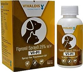 Vivaldis Vi-Fi Spray For Acute Fleas , Ticks & Chewing Lice Infestation For Dogs