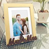 Art street - MR & MRS Customize Table Photo Frame Beige and Brown for Valentine Day(Photo Size 6X8) Photo Gift/Love Gift/Vale