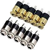PsmGoods® - Lot de 3 connecteurs de 3,5 mm pour support de montage de prise Jack stéréo.