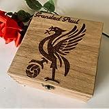 Custom Hand Engraved City Of Liverpool Liver Bird Gift Box Memory Box Watch Storage Dad Brother Grandad Football Lover…