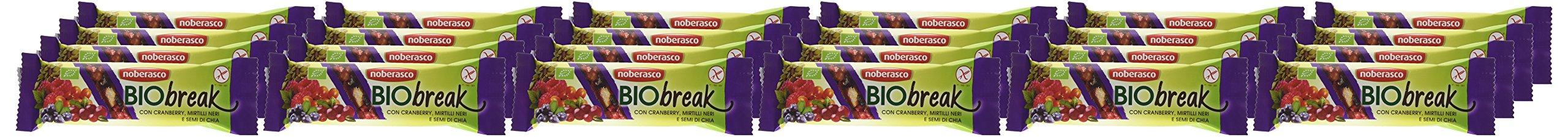 Noberasco BioBreak con Cranberry, Mirtilli Neri e Semi di Chia 35 g; 24 BARRETTE CON FRUTTA ESSICCATA, FRUTTA SECCA E… 1 spesavip
