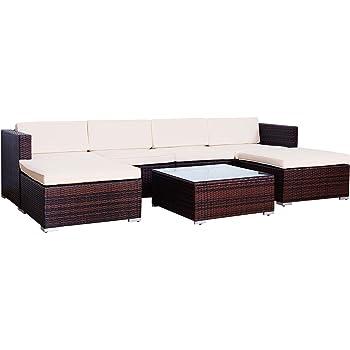 Amazonde Svita Lugano Poly Rattan Lounge Garten Set Xxl Sofa Set
