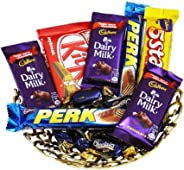 SFU E Com Chocolate Gift Hamper | Gift for Diwali, Anniversary, Birthday, Christmas, Valentine, Her, Him | Assorted Chocolate Gift | 001