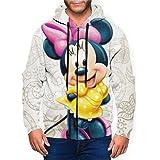 Minnie Mouse - Felpa da uomo con cappuccio e tasca con zip