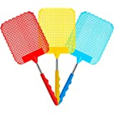 Fly Swatter, DELFINO 3 Pack Extendable Fly Swatter, Flexible Manual Swat Pest Control with Durable Stainless Steel Telescopic