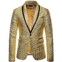 HOOUDO Men Blazer,Autumn Winter Sale Stylish Chic Casual Slim Fit Lapel One Button Dinner Party Prom Tuxedo Jackets Coat…