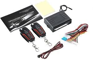 Kkmoon Auto Türschloss Keyless Entry System Zentralverriegelung Fernbedienung Kit Mit 2 Klappschlüssel Auto