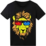 LED T-Shirt für Party Hiphop Cosplay Konzert Geburtstagsgeschenk Halloween Kostüm Sound Aktiviertes Equalizer Shirt DJ T-Shirt