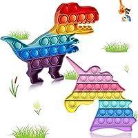 Pop It Unicorn Push Bubble Fidget Toys, 2 Packs of Advanced Poper Silicone Toys, Relief Autism Special Needs, Le Rose…