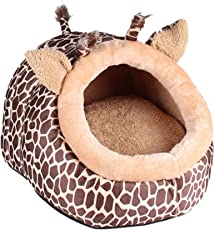 Generic Soft Pet Kennel Cute Giraffe Warm Bed House Small Dog Cat Puppy House S-L - M