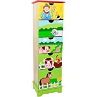 Fantasy Fields - Happy Farm themed Wooden 5 Drawer Storage Unit Cabinet for Kids | Hand Crafted & Painted Details | Child Friendly Water-based Paint