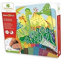 Mosaïques autocollantes pour enfants - 5 tableaux Dinosaures - Loisir créatif - Stick & Fun - Dès 5 ans - Sycomore…