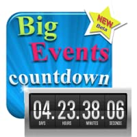 My Big Events - Countdown - Digital Event Count Down Clock with HD full screen background (for counting how many days and time to go, until your dream dates)