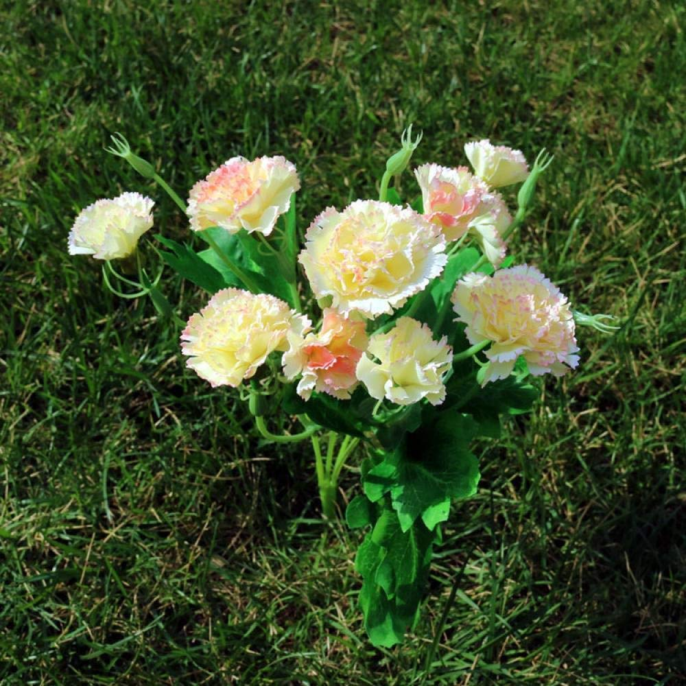 qingtianlove Carnation Simulation Bouquet Flor pequeña Flor Flor Clavel Artificial Rojo, Rojo