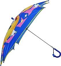 Clasiko Cartoon Print Mickey Mouse Umbrella; Kite Shape; Light Weight; Attractive Design; Durable; Color - Blue