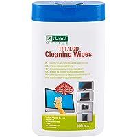 D.RECT Lot de 100 Lingettes Nettoyantes dans un Distributeur - Pour écrans TFT/LCD Ordinateur Portable Tablette, Multi…