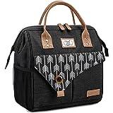 Lekesky Sac Isotherme Repas Grande Capacité 11L Noir, Bureau Lunch Bag Isotherme femme Pique-Nique Sac-pour Travail, École, E
